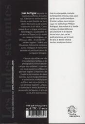 Jean Lartigue, L'Ami Oublie De V Segalen - 4ème de couverture - Format classique
