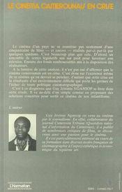 Le Cinema Camerounais En Crise - 4ème de couverture - Format classique