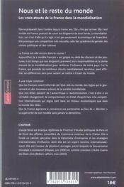 Nous Et Le Reste Du Monde - 4ème de couverture - Format classique