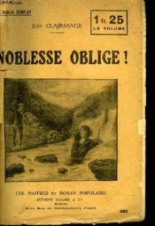 Noblesse Oblige ! - Couverture - Format classique