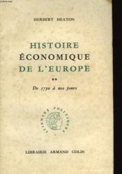 Histoire Economique De L'Europe - De 1750 A Nos Jours - Couverture - Format classique