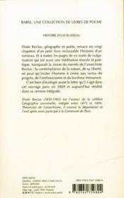 Histoire D'Un Ruisseau (Ne) Babel 166 - 4ème de couverture - Format classique