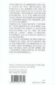 Combats De Coqs - 4ème de couverture - Format classique