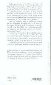 La guerre des mémoires ; la france face à son passé colonial - 4ème de couverture - Format classique