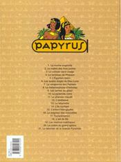 Papyrus t.2 ; le maitre des trois portes - 4ème de couverture - Format classique