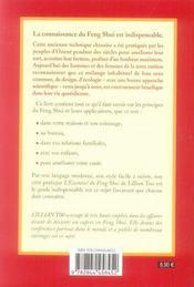 L'essentiel du feng shui - 4ème de couverture - Format classique