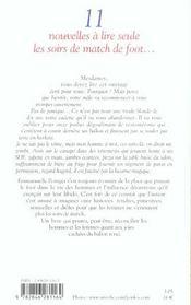 Onze Nouvelles A Lire Seule Les Soirs De Match De Foot... - 4ème de couverture - Format classique