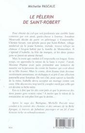 Le pelerin de saint-robert - 4ème de couverture - Format classique