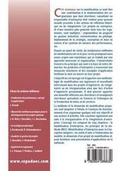 Modelisation d'entreprise par les processus ; activites, organisation et applications - 4ème de couverture - Format classique