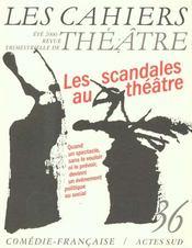 Cahiers De La Comedie Francaise N.36 - Intérieur - Format classique
