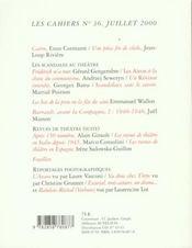Cahiers De La Comedie Francaise N.36 - 4ème de couverture - Format classique