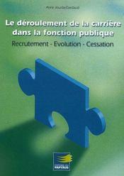 Le déroulement de carrière dans la fonction publique - Intérieur - Format classique