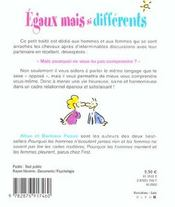 Egaux mais si differents ; petit traite des relations hommes femmes - 4ème de couverture - Format classique