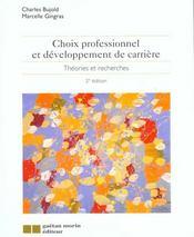 Choix Professionnel Et Developpement De Carriere(2eme Edition) - Intérieur - Format classique