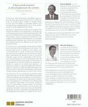 Choix Professionnel Et Developpement De Carriere(2eme Edition) - 4ème de couverture - Format classique