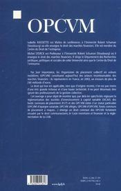 Opcvm - 4ème de couverture - Format classique