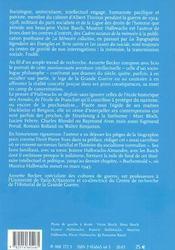 Maurice Halbwachs, Intellectuel En Guerres Mondiales 1914-1945 - 4ème de couverture - Format classique