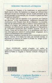 Miroirs Transatlantiques - 4ème de couverture - Format classique