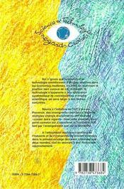 Cnriut'99 ; Sciences Technologiques, Regards Croises - 4ème de couverture - Format classique