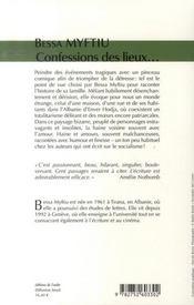 Confessions des lieux disparus - 4ème de couverture - Format classique
