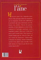 La Belle Histoire De L'Ane - 4ème de couverture - Format classique