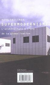 Supermodernisme - 4ème de couverture - Format classique