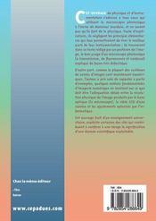 Fondamentaux d'optique et d'imagerie numerique a l'usage des microscopistes - 4ème de couverture - Format classique