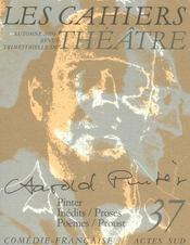 Les Cahiers De La Comedie Francaise N.37 ; Harold Pinter - Intérieur - Format classique