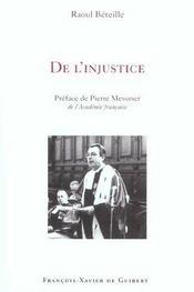 De L'Injustice - Intérieur - Format classique