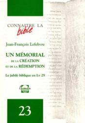 Un Memorial De La Creation Et De La Redemption - Couverture - Format classique