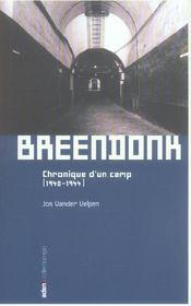 Breendonk-Chronique D'Un Camp(Vente Ferme) - Intérieur - Format classique
