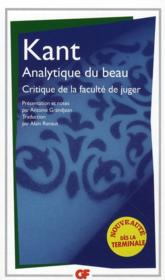 Analytique du beau ; critique de la faculte de juger – Immanuel Kant