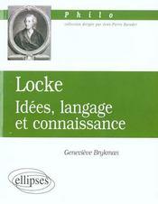 Locke Idees Langage Et Connaissance - Intérieur - Format classique