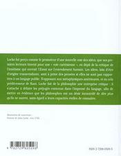 Locke Idees Langage Et Connaissance - 4ème de couverture - Format classique
