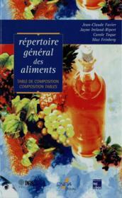 Répertoire général des aliments ; table de composition (2e édition) - Couverture - Format classique