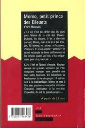 Momo Petit Prince Des Bleuets - 4ème de couverture - Format classique