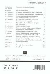 Revue Philosophia Scientiae - 4ème de couverture - Format classique