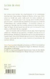 La Joie De Vivre - 4ème de couverture - Format classique