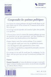 Comprendre Les Systemes Politiques - 4ème de couverture - Format classique