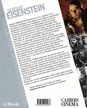 Sergeï Eisenstein - 4ème de couverture - Format classique