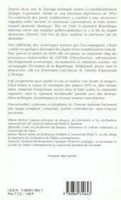 Italie,Echecs Et Reussites D'Une Republique (L') - 4ème de couverture - Format classique