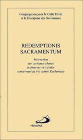 Redemptionis sacramentum - Couverture - Format classique