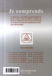 Je Comprends Les Problèmes ; Cahier N.2 ; Ce2 - 4ème de couverture - Format classique