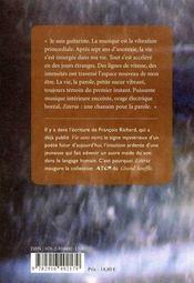 Esteria - 4ème de couverture - Format classique