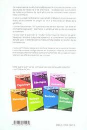 La Genetique En 1001 Qcm - 4ème de couverture - Format classique