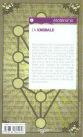 Comprendre la kabbale - 4ème de couverture - Format classique