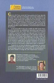 Eaux Et Territoires ; Tensions, Cooperations Et Geopolitique De L'Eau - 4ème de couverture - Format classique