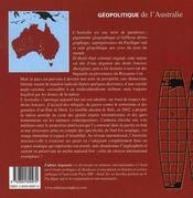 Géopolitique de l'australie - 4ème de couverture - Format classique