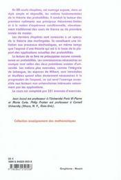 L'essentiel en théorie des probabilités - 4ème de couverture - Format classique