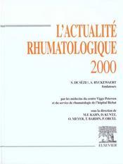 L'actualité rhumatologique 2000 - Intérieur - Format classique